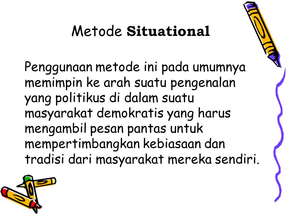 Metode Situational