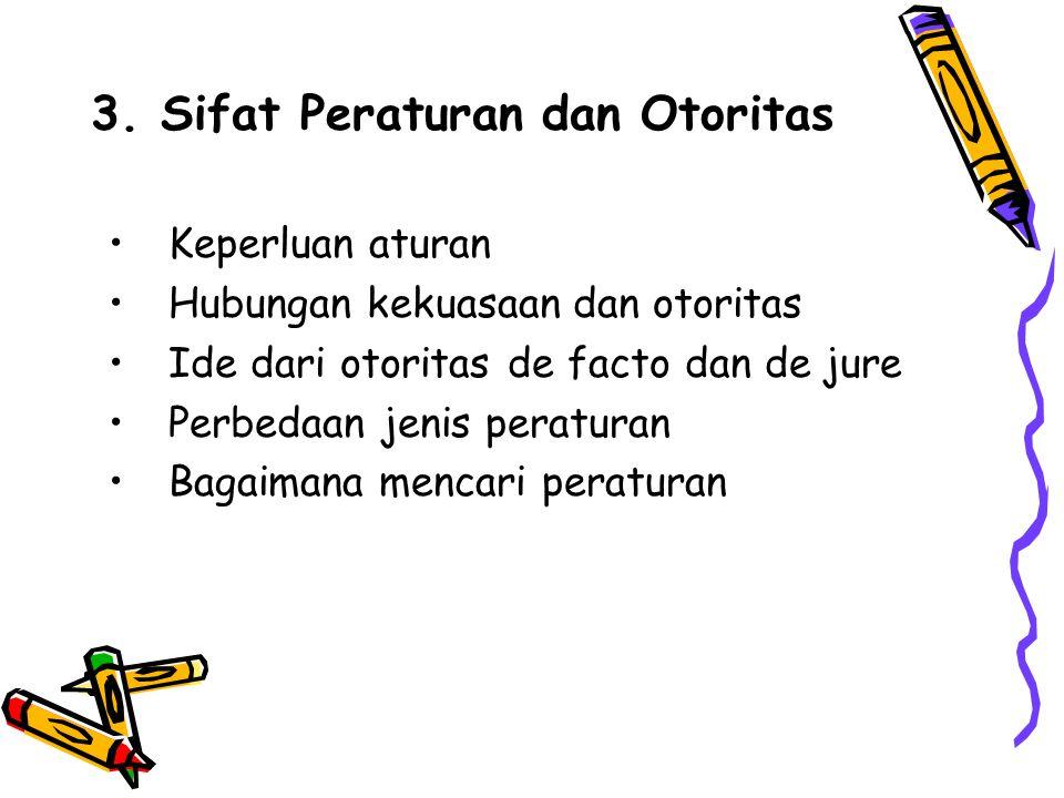 3. Sifat Peraturan dan Otoritas