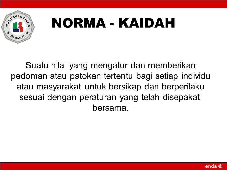 NORMA - KAIDAH