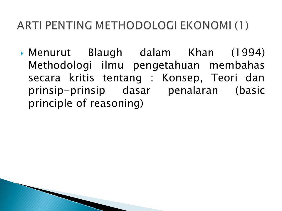 ARTI PENTING METHODOLOGI EKONOMI (1)