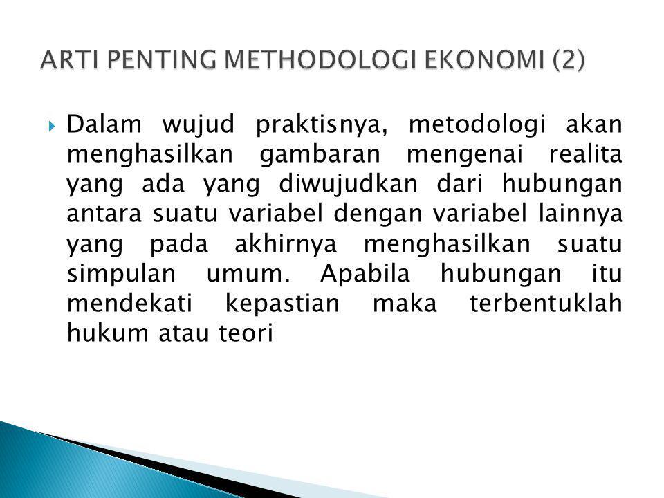 ARTI PENTING METHODOLOGI EKONOMI (2)