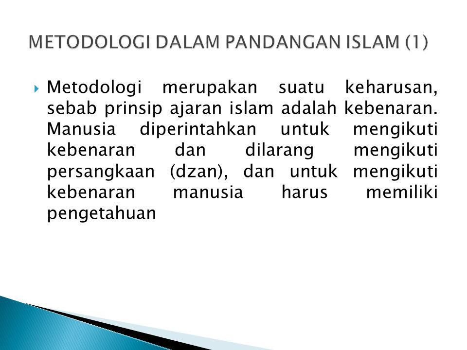 METODOLOGI DALAM PANDANGAN ISLAM (1)
