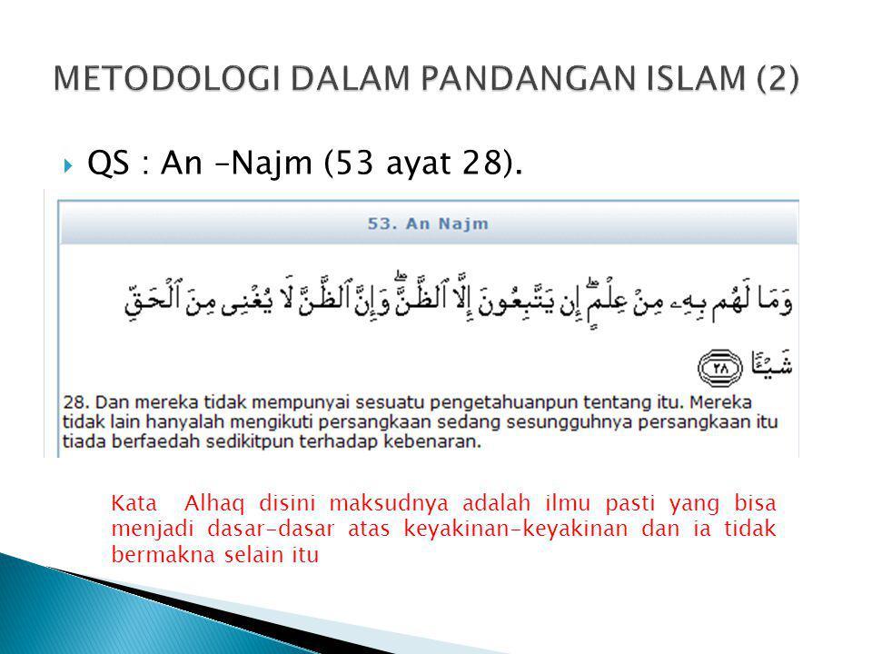METODOLOGI DALAM PANDANGAN ISLAM (2)