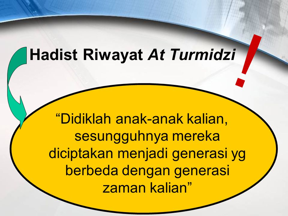 Hadist Riwayat At Turmidzi