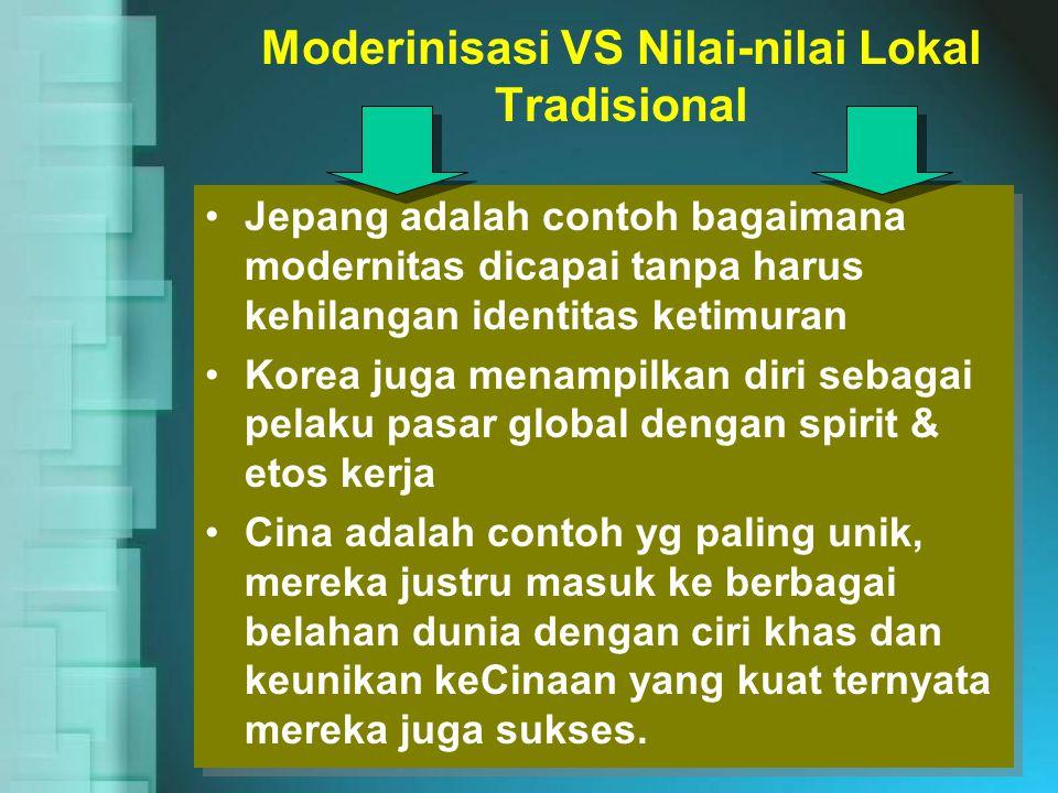 Moderinisasi VS Nilai-nilai Lokal Tradisional