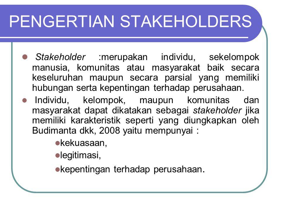 PENGERTIAN STAKEHOLDERS