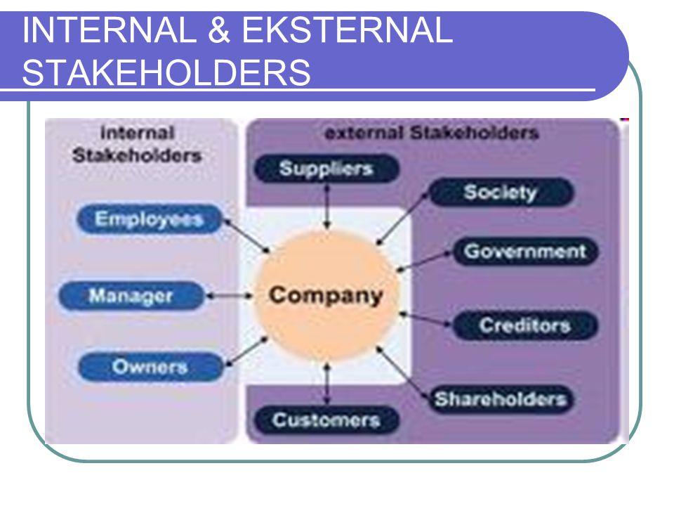 INTERNAL & EKSTERNAL STAKEHOLDERS