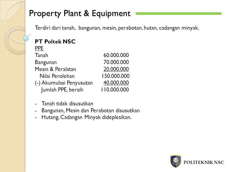 Property Plant & Equipment