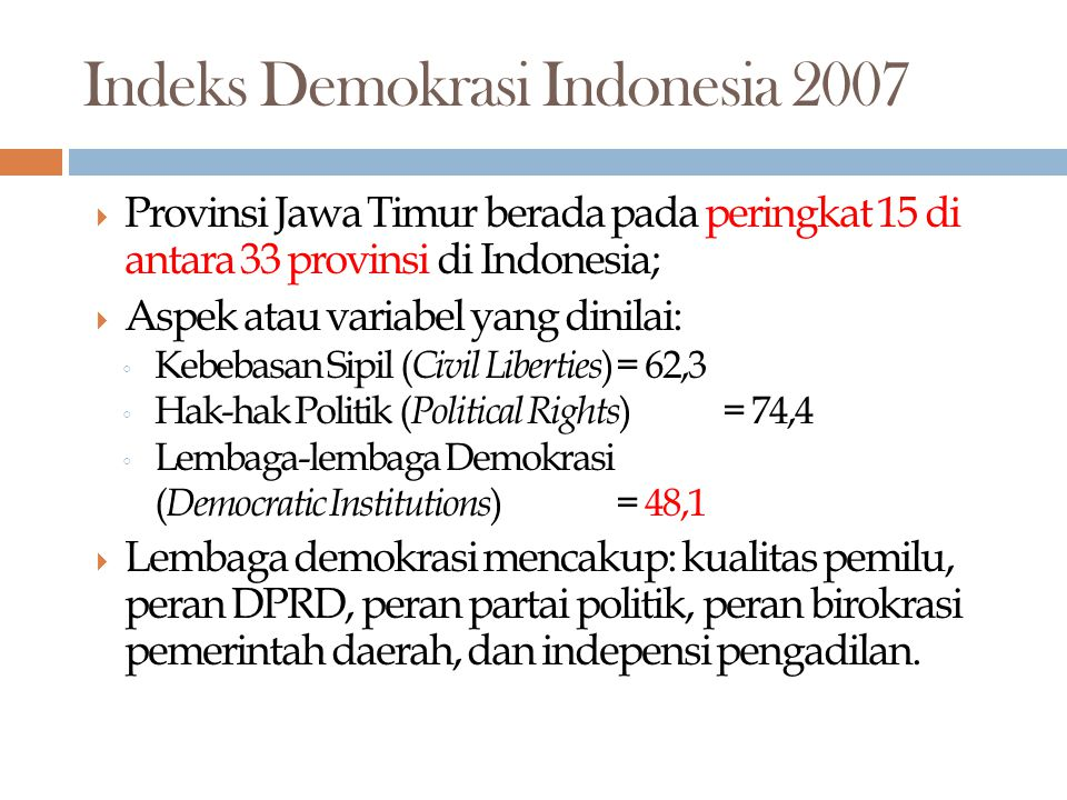 Indeks Demokrasi Indonesia 2007