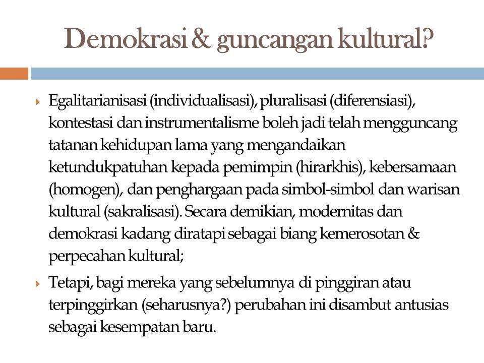 Demokrasi & guncangan kultural