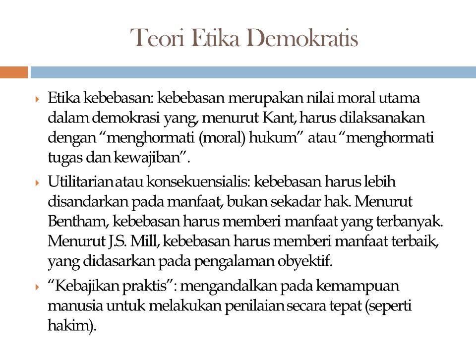 Teori Etika Demokratis