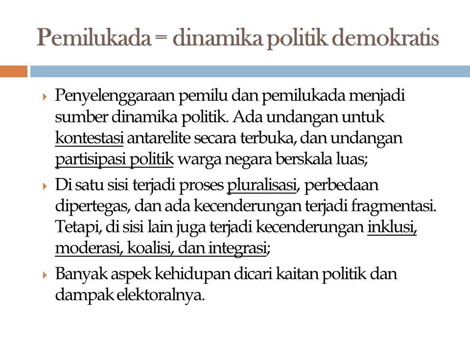 Pemilukada = dinamika politik demokratis