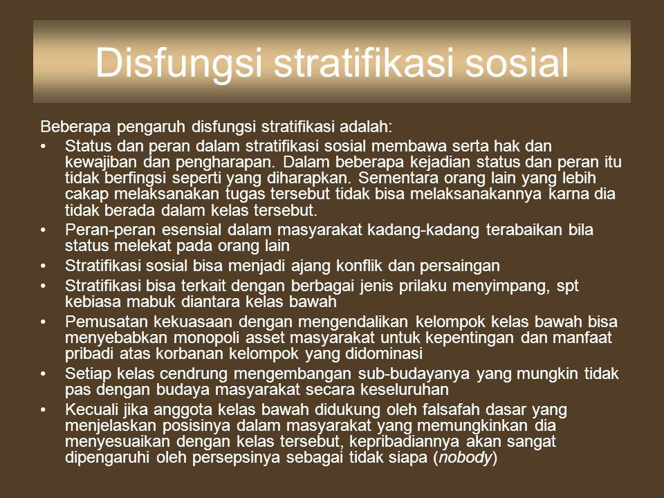 Disfungsi stratifikasi sosial