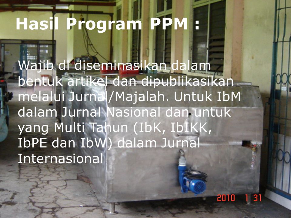 Hasil Program PPM :