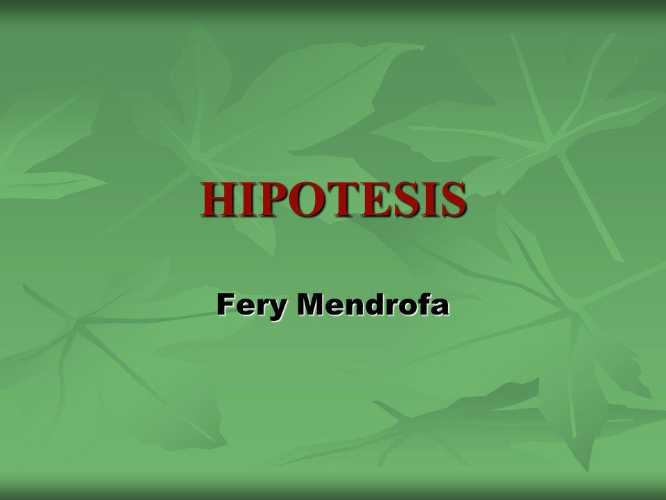 HIPOTESIS Fery Mendrofa