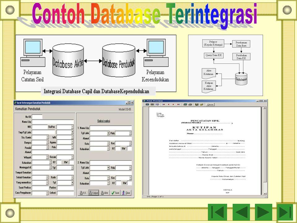 Contoh Database Terintegrasi