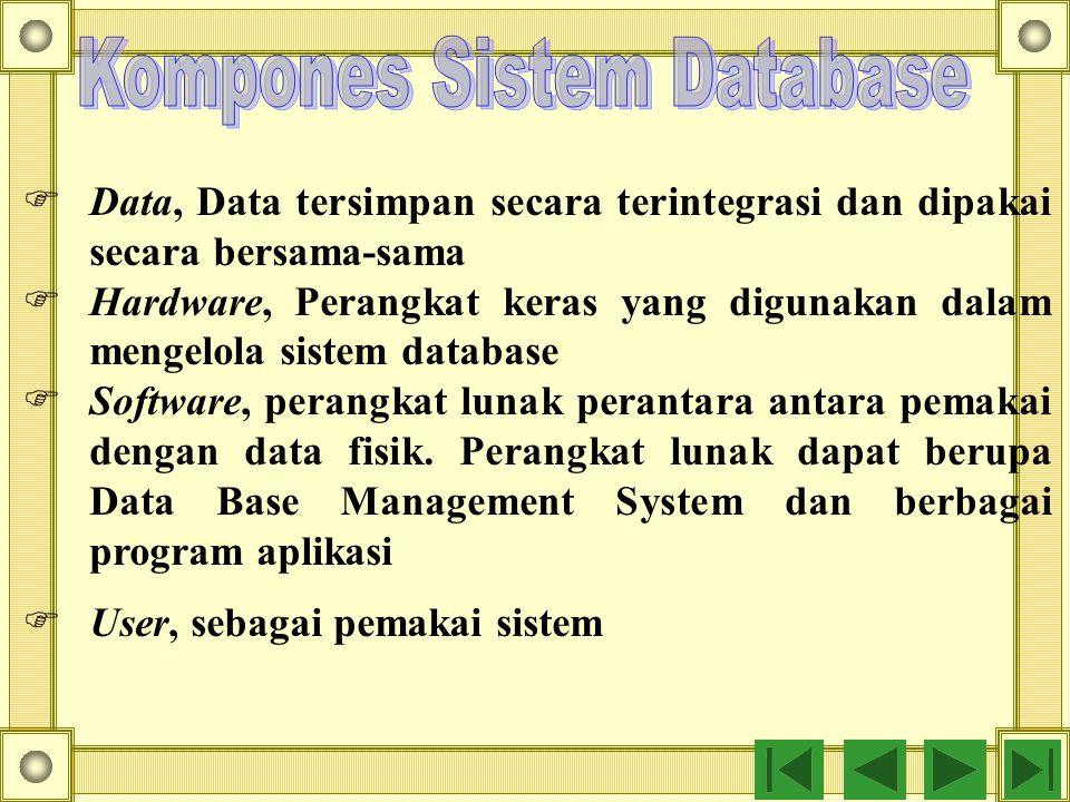Kompones Sistem Database