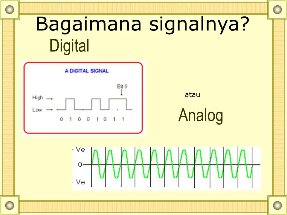Bagaimana signalnya Digital atau Analog