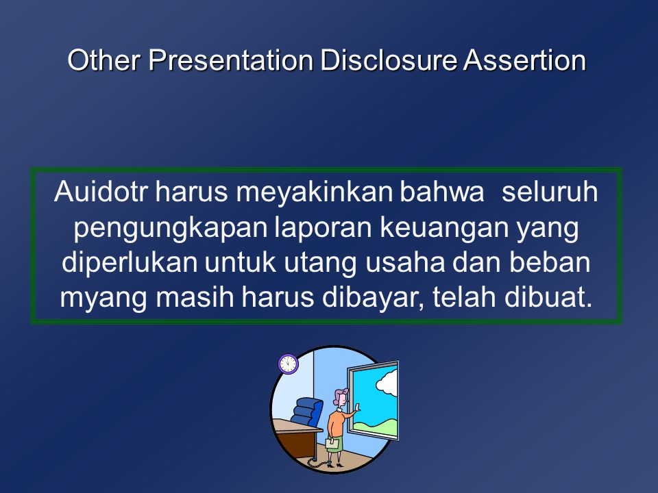 Other Presentation Disclosure Assertion