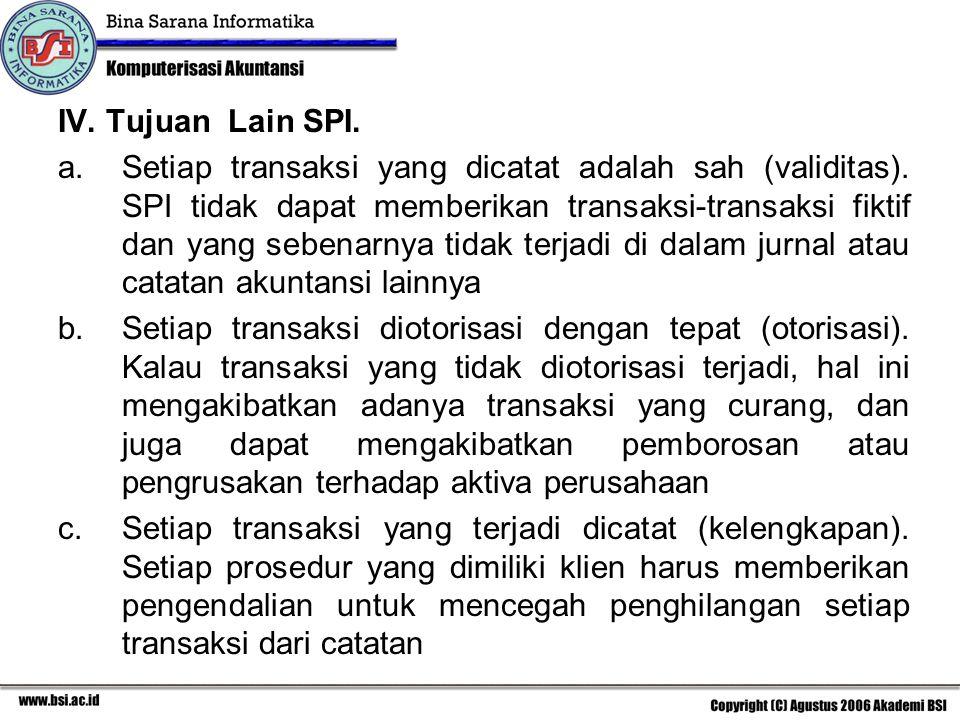 IV. Tujuan Lain SPI.