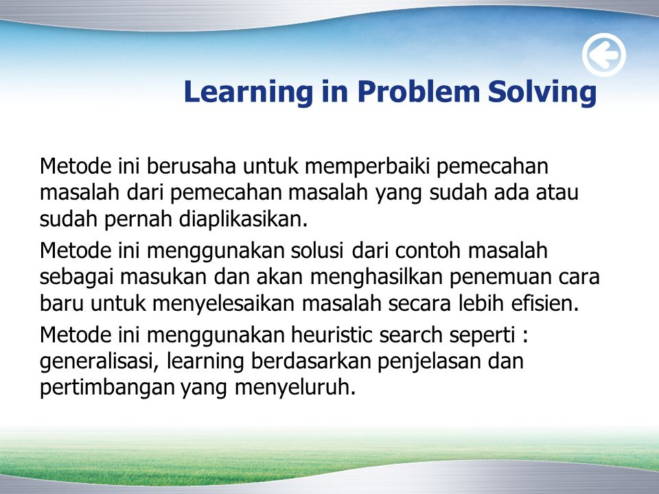 Learning in Problem Solving