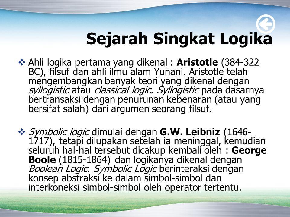 Sejarah Singkat Logika
