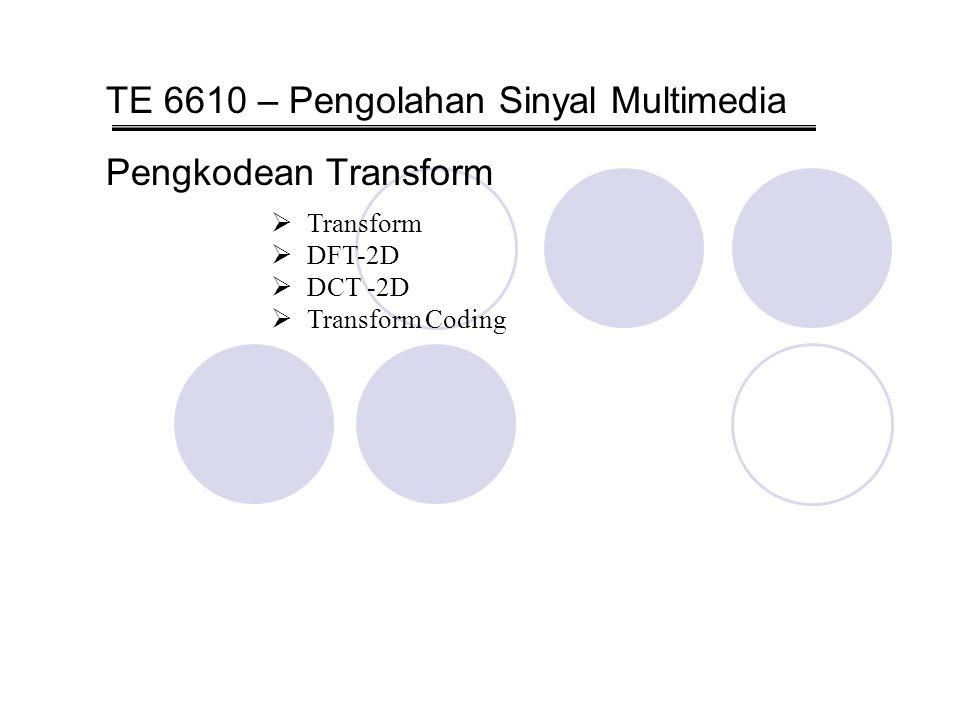 TE 6610 – Pengolahan Sinyal Multimedia