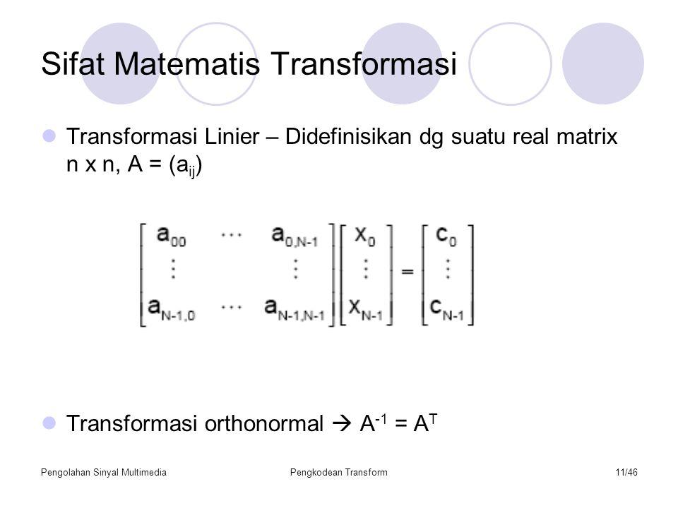 Sifat Matematis Transformasi