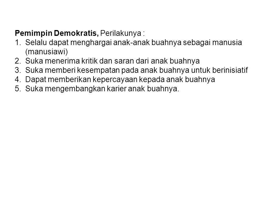 Pemimpin Demokratis, Perilakunya :