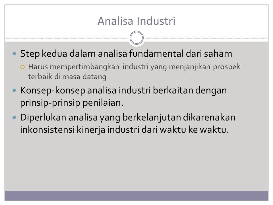 Analisa Industri Step kedua dalam analisa fundamental dari saham