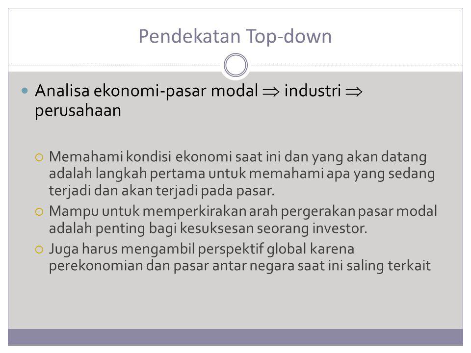 Pendekatan Top-down Analisa ekonomi-pasar modal  industri  perusahaan.