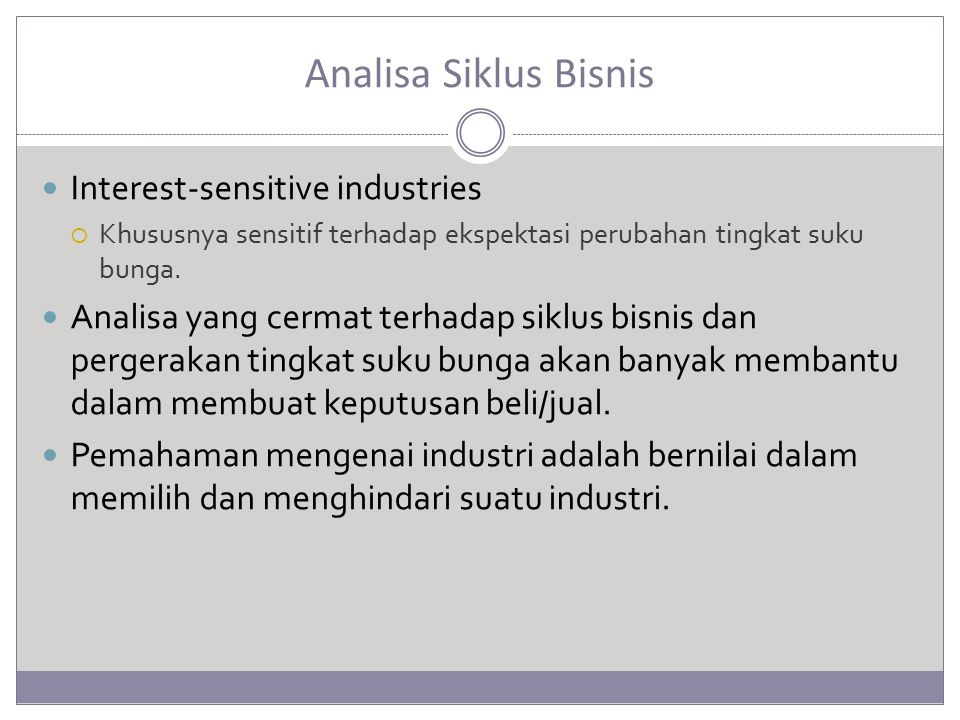 Analisa Siklus Bisnis Interest-sensitive industries