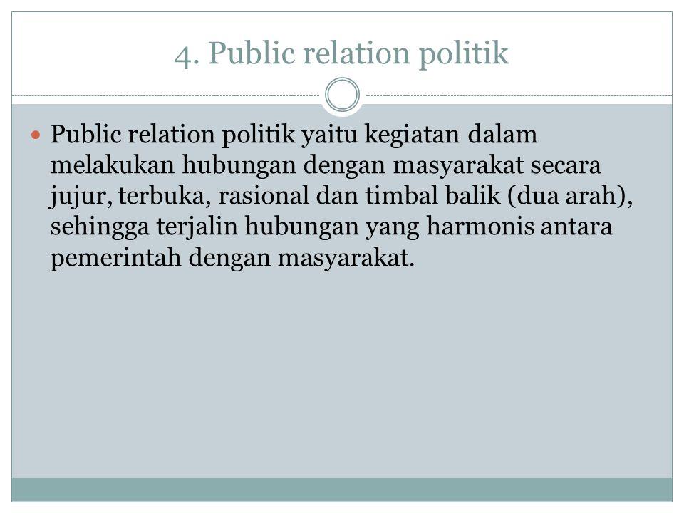 4. Public relation politik
