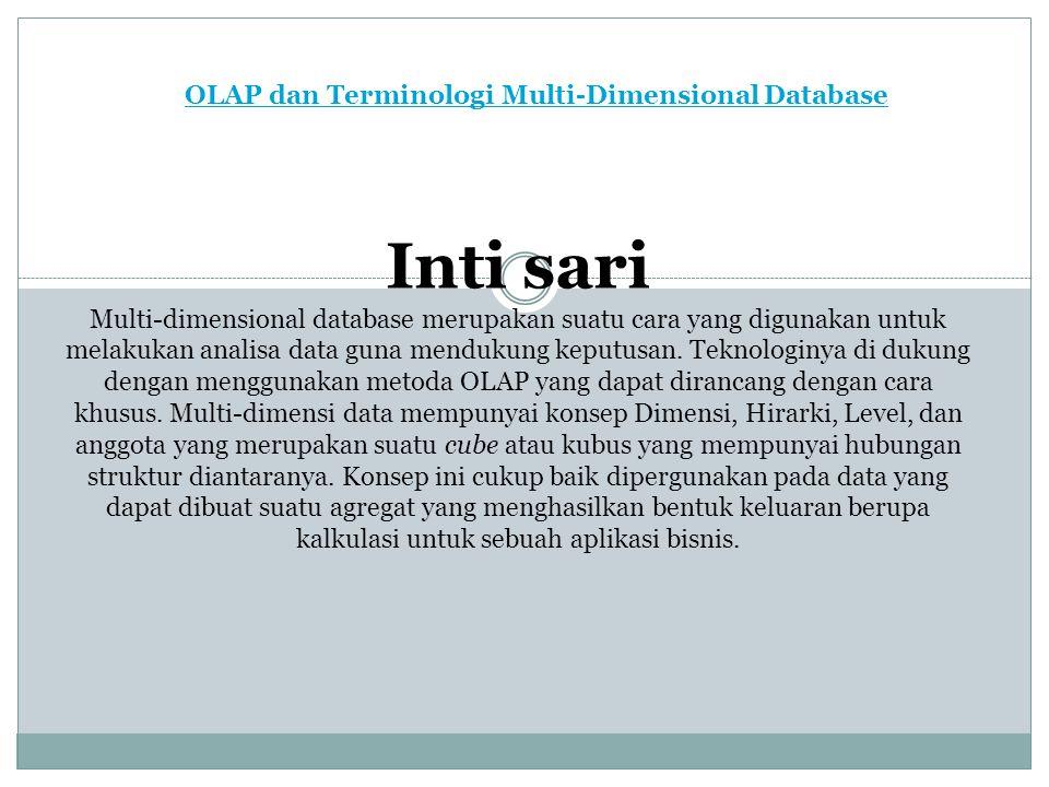 OLAP dan Terminologi Multi-Dimensional Database