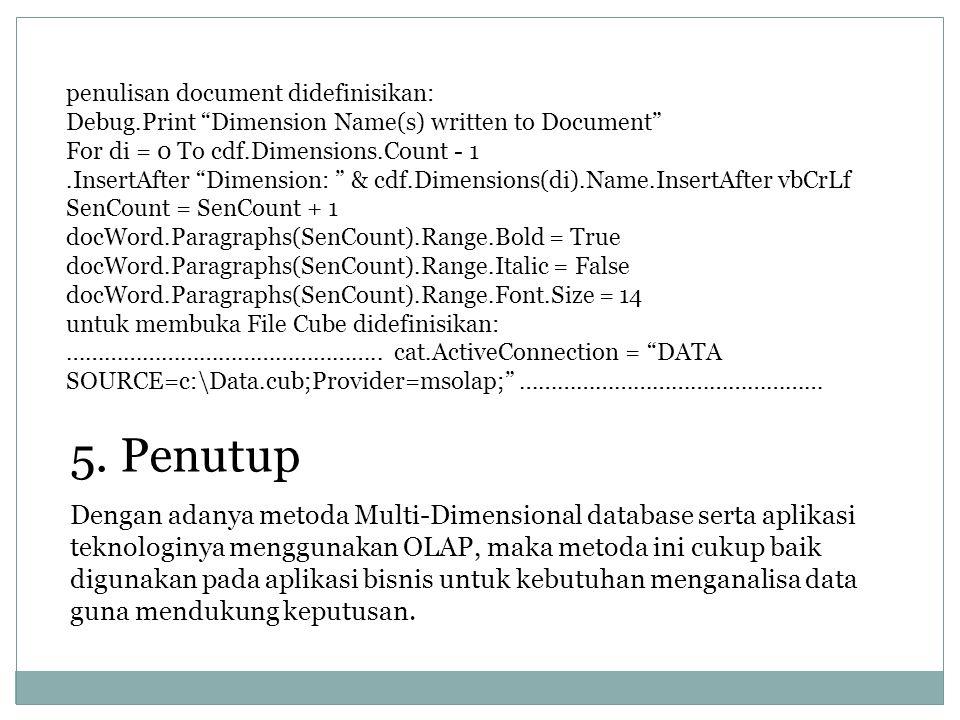 penulisan document didefinisikan: Debug