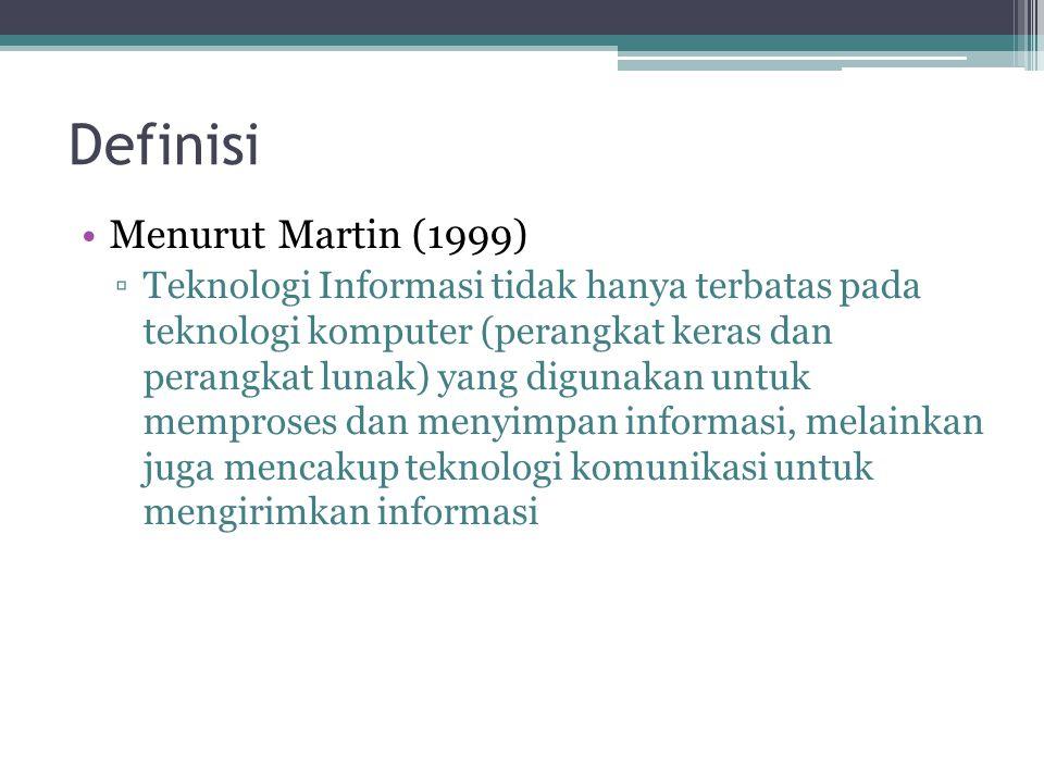 Definisi Menurut Martin (1999)