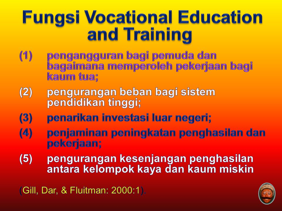 Fungsi Vocational Education and Training