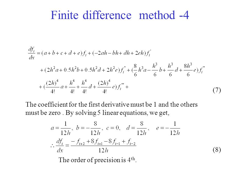 Finite difference method -4