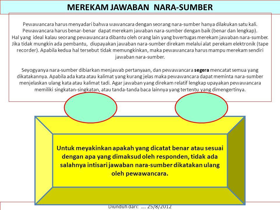 MEREKAM JAWABAN NARA-SUMBER