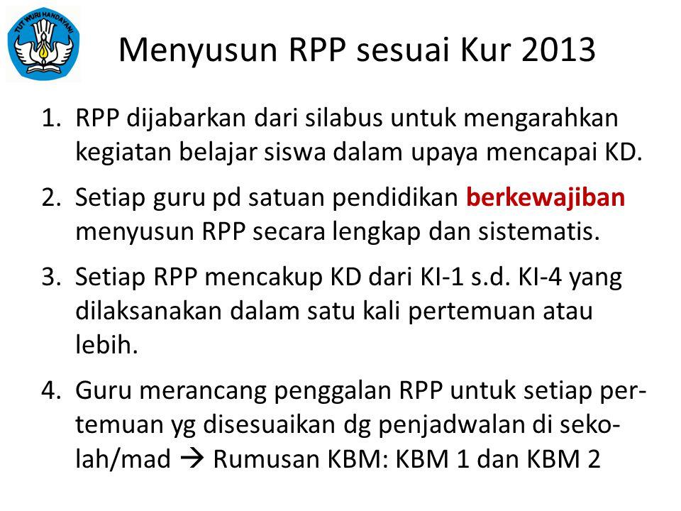 Menyusun RPP sesuai Kur 2013