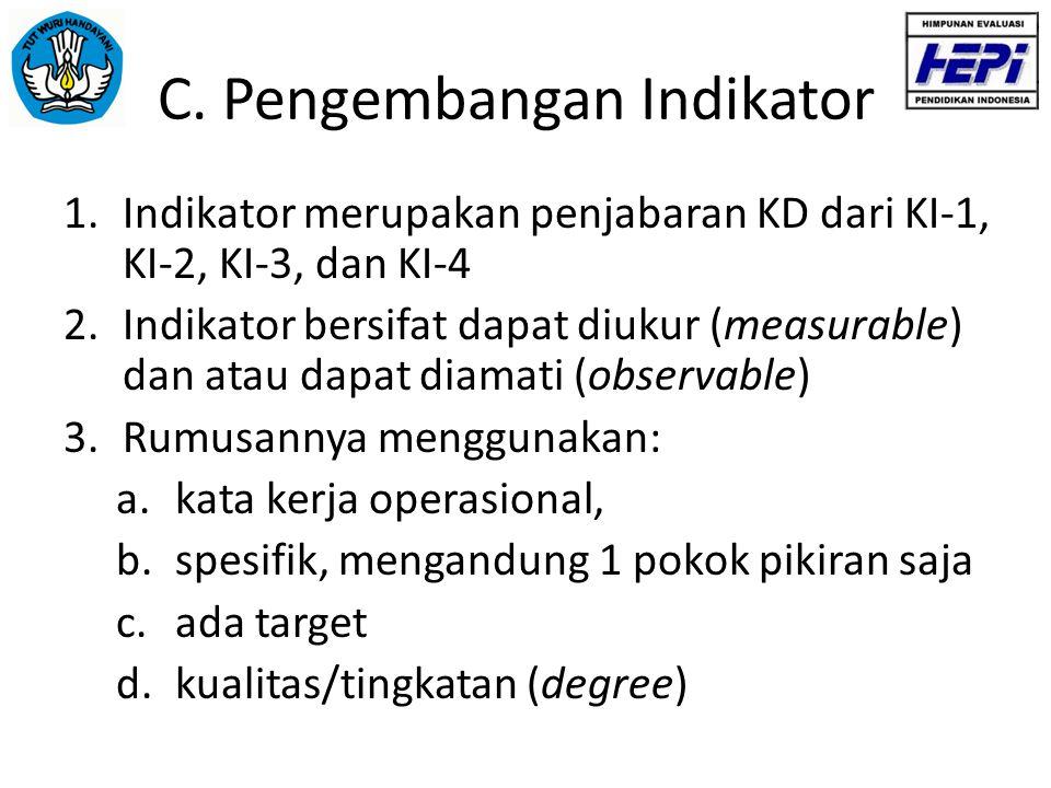 C. Pengembangan Indikator