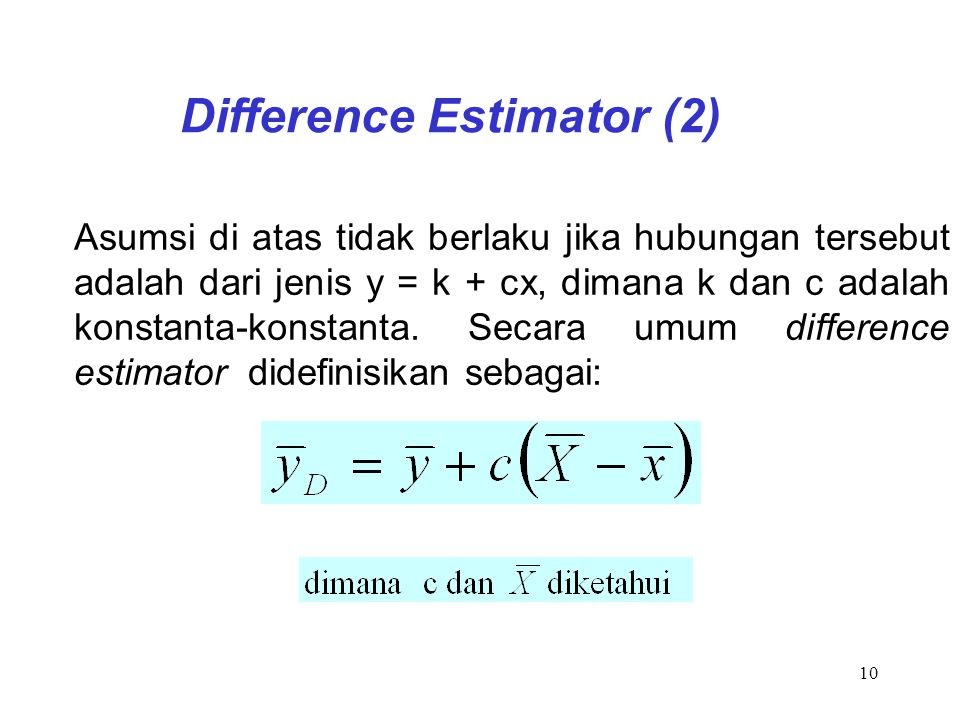 Difference Estimator (2)
