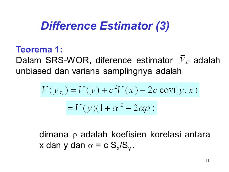 Difference Estimator (3)