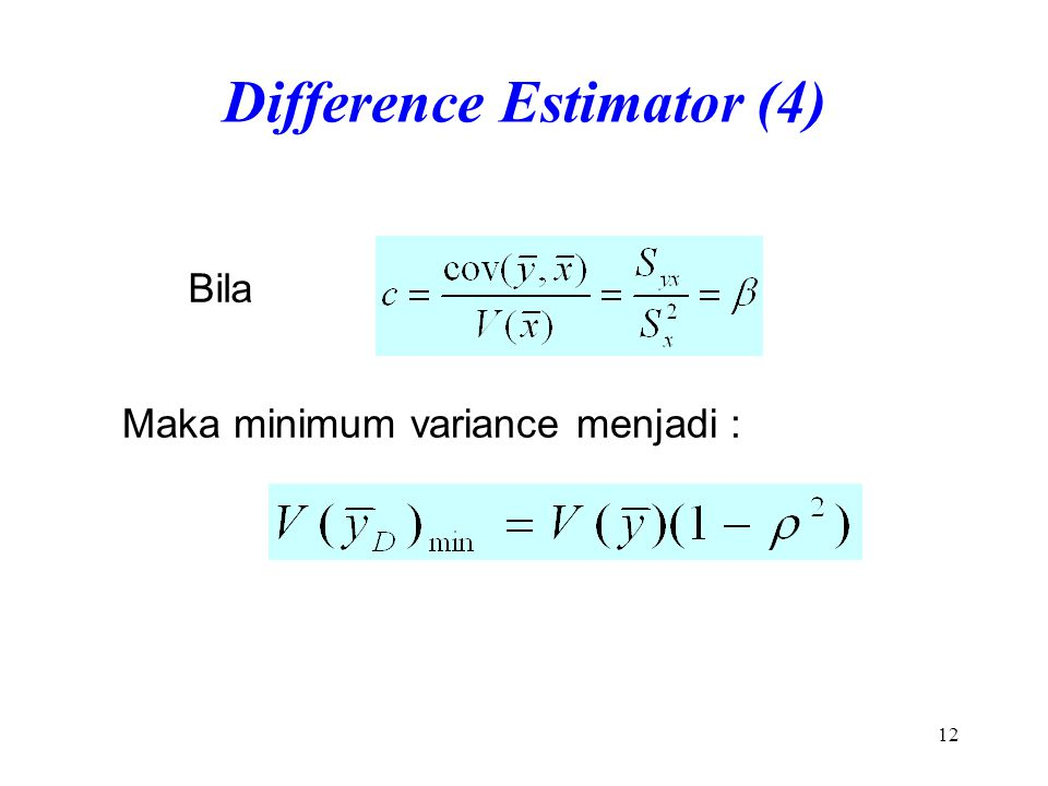 Difference Estimator (4)