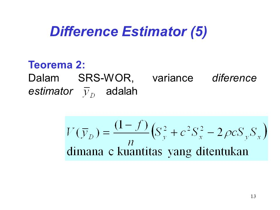 Difference Estimator (5)
