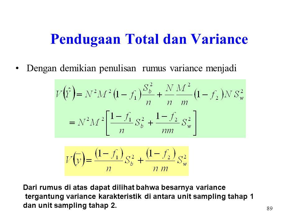 Pendugaan Total dan Variance