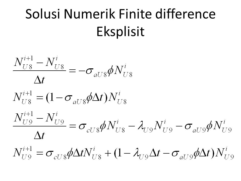 Solusi Numerik Finite difference Eksplisit