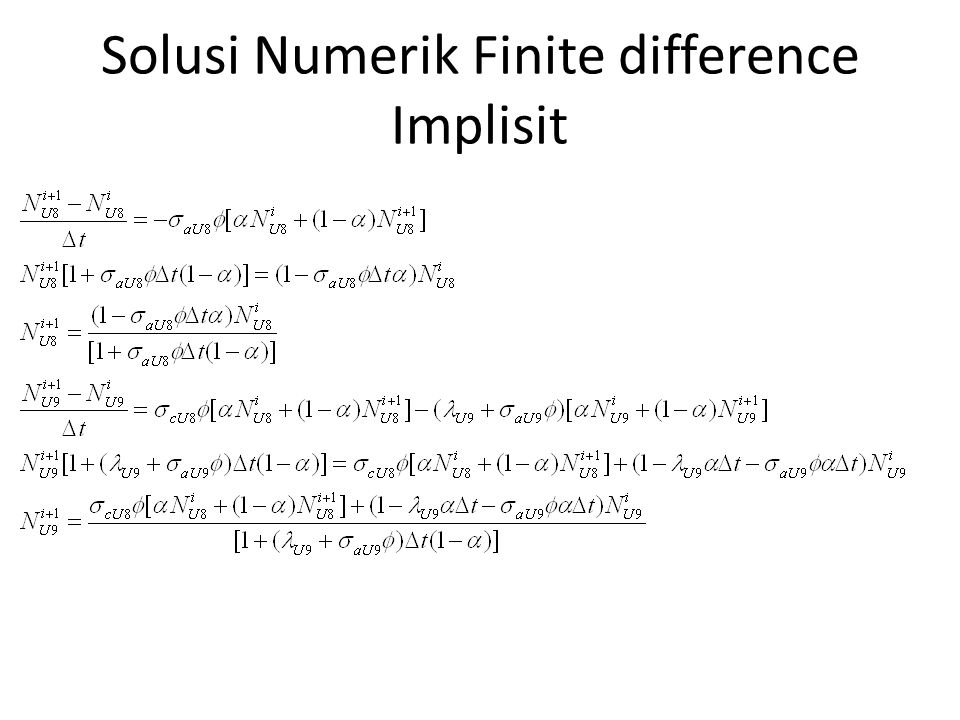 Solusi Numerik Finite difference Implisit