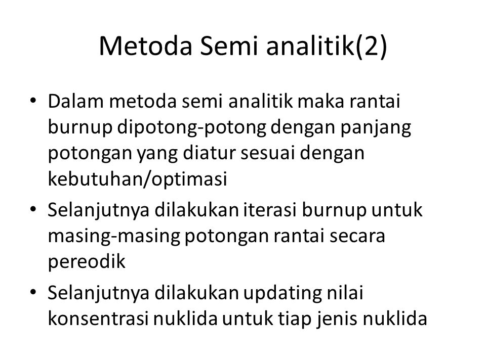 Metoda Semi analitik(2)