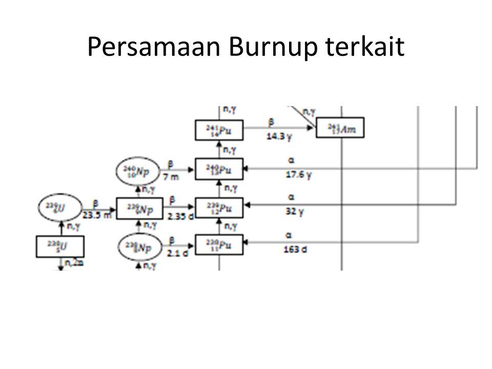 Persamaan Burnup terkait